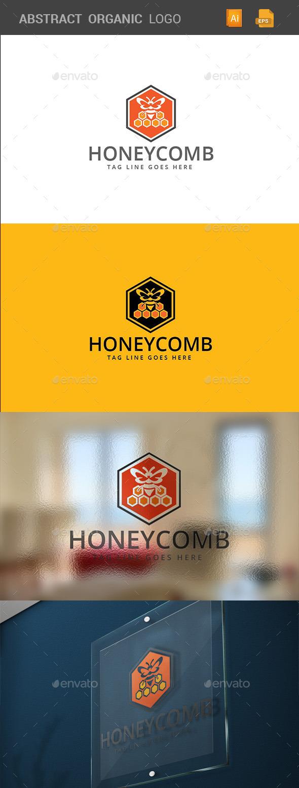 Honey Comb Logo Template