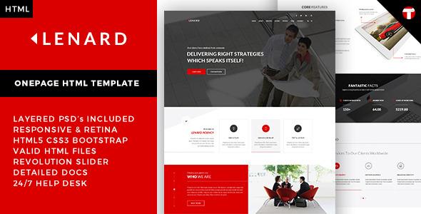 Lenard - Onepage Business Responsive Site Template