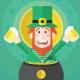 St Patricks Day Green Leprechaun - GraphicRiver Item for Sale