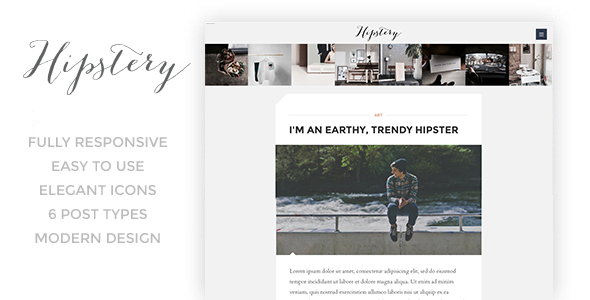 Hipstery - Responsive Content Focus Blog Template