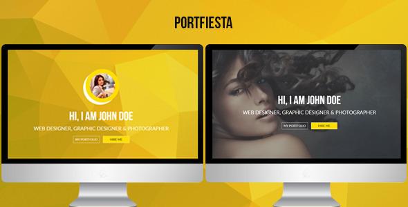 Portfiesta - One Page Portfolio Template