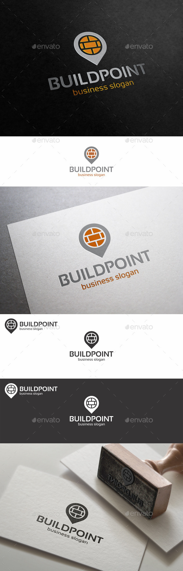 Build Point Place Logo Template