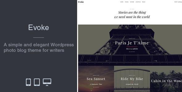 Evoke - Photo Stories WordPress Blog Theme