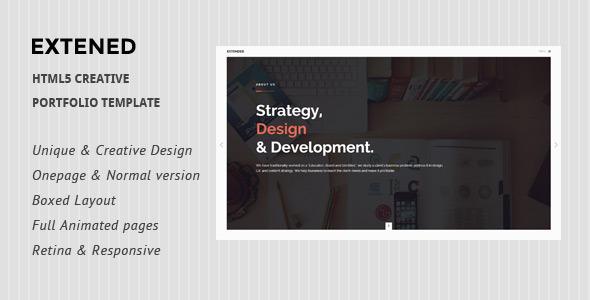 Extended - HTML5 creative Portfolio Template