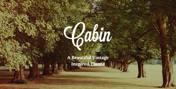 Cabin - Beautiful Vintage Theme Download