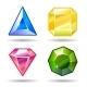 Cartoon vector gems and diamonds icons set - GraphicRiver Item for Sale