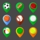 Mapping Geo Tag Pin Set - GraphicRiver Item for Sale