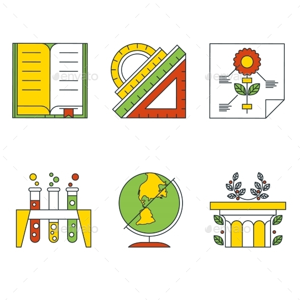 Vector Education and Science Concept. Flat Design.