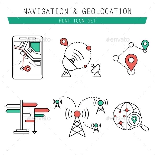 Different Navigation Icons Set