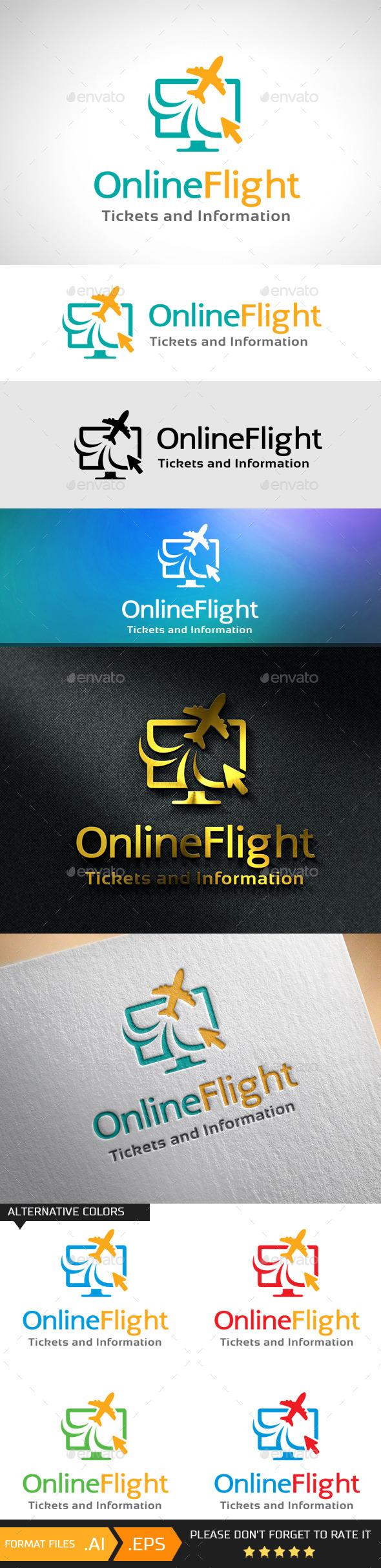 Online Flight Logo Template