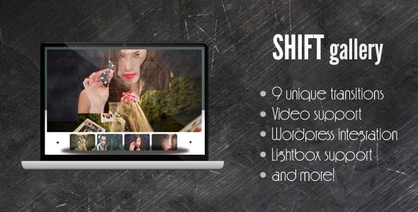 SHIFT Gallery - support for image/div/video/swf