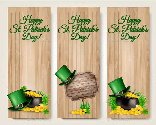 Three Saint Patricks Day Banners