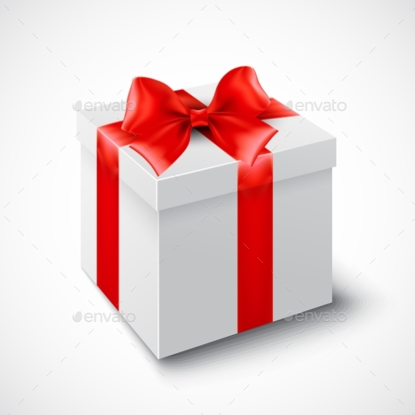 Gift Box with Red Ribbonration