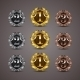 Set of Luxury Golden Shields - GraphicRiver Item for Sale