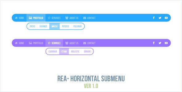 Rea - Horizontal Submenu
