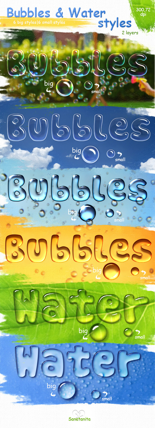 Bubbles & Water Styles