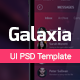 Galaxia - PSD UI Template with Store - GraphicRiver Item for Sale