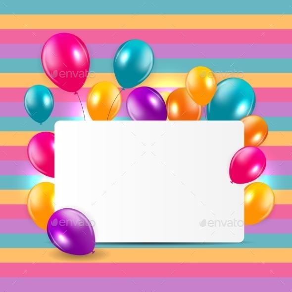 Glossy Balloons Background Illustration