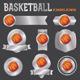 Vector Basketball Emblems Illustration - GraphicRiver Item for Sale