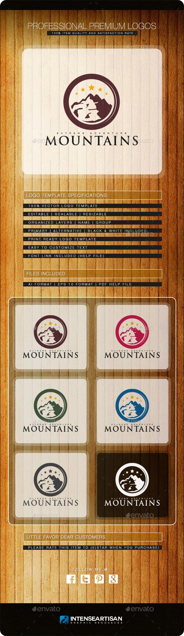 Mountain V.2 Logo Template