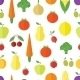 Seamless Background with Fruits and Vegetables - GraphicRiver Item for Sale