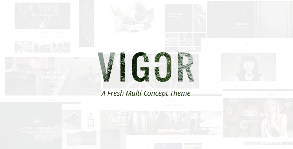 Vigor - Vintage WordPress Theme