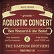 Acoustic Concert Flyer  - GraphicRiver Item for Sale