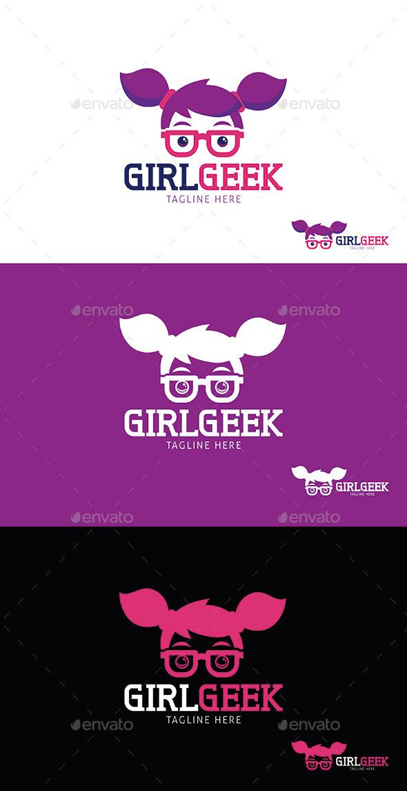 Girl Geek Logo Template