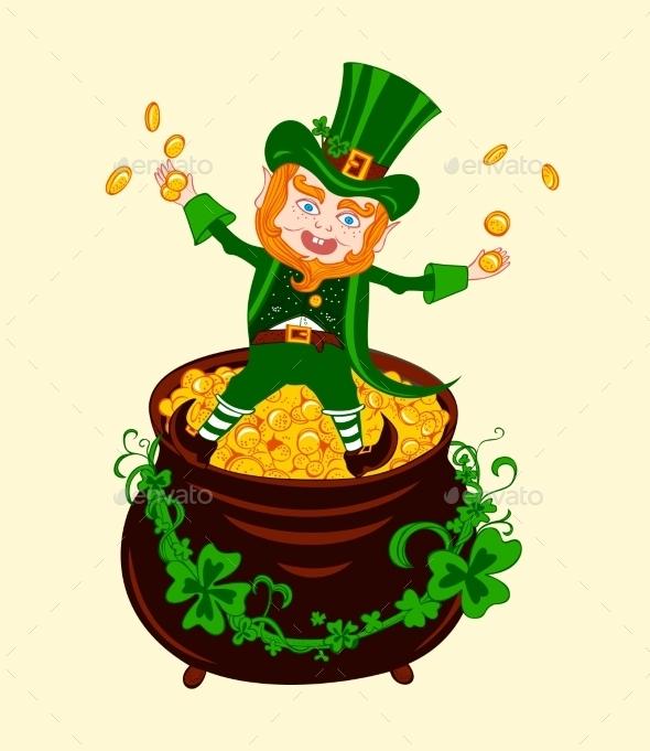 Illustration of Cheerful Patrick