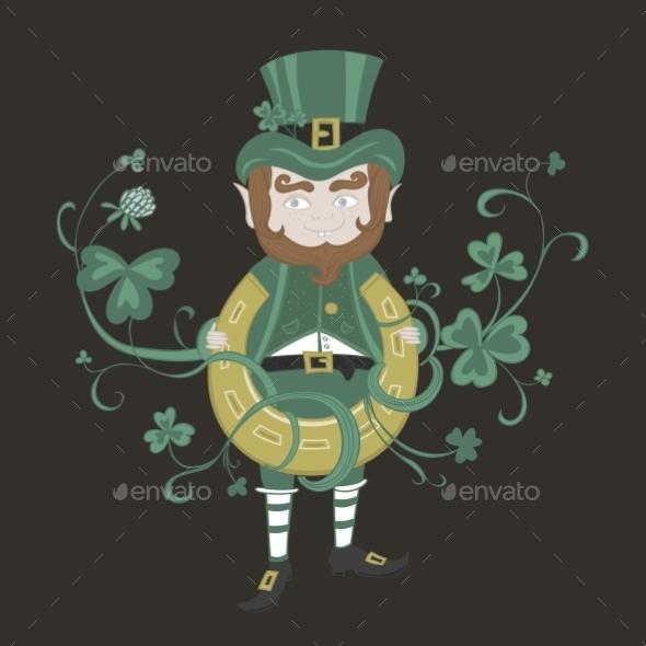 Saint Patrick is Holding a Horseshoe