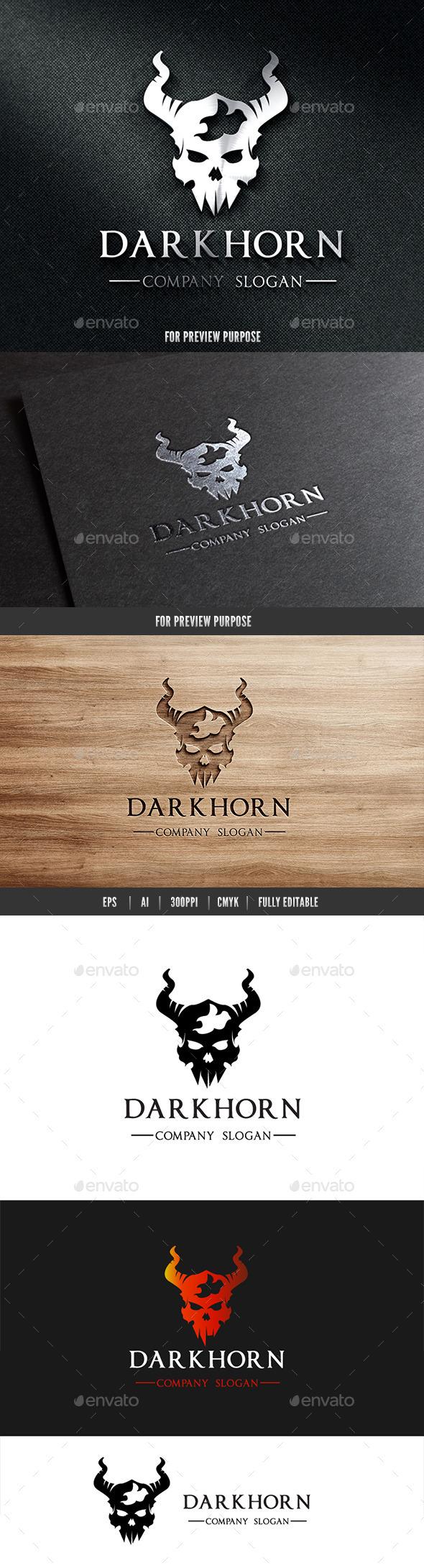Dark Horn Skull Logo
