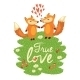 Love Card with Foxes - GraphicRiver Item for Sale