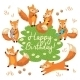Foxes Birthday Card  - GraphicRiver Item for Sale