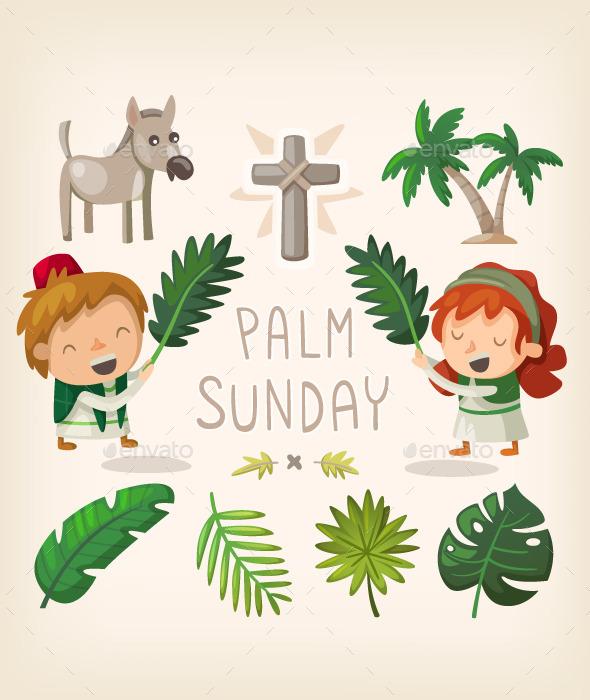Palm Sunday Design Elements
