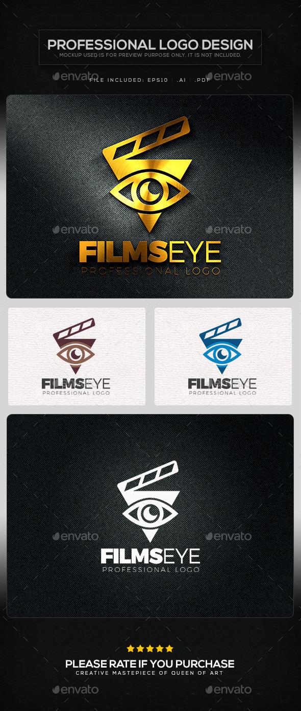 Films Eye Logo Template