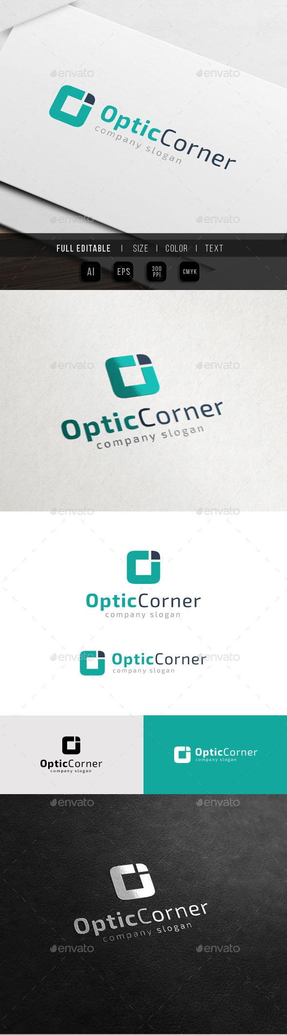 Optic Corner - Letter O Logo