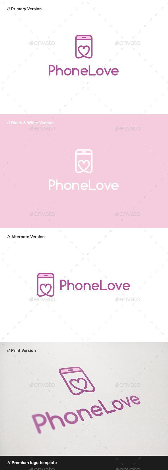 Phone Love Logo