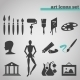 Art Icons Set  - GraphicRiver Item for Sale