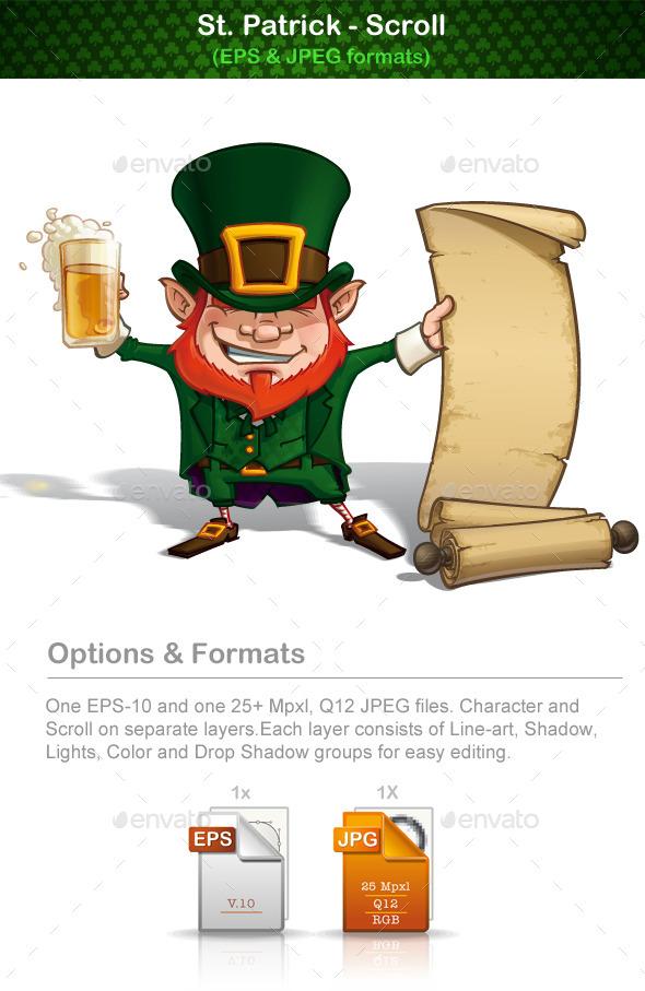 St Patrick - Scroll