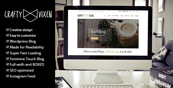 Vixen - Responsive DIY Craft WordPress Blog