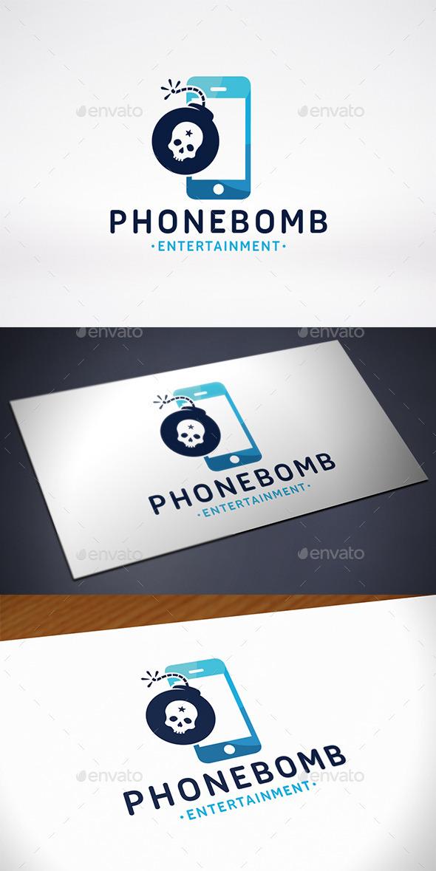 Phone Bomb Logo Template