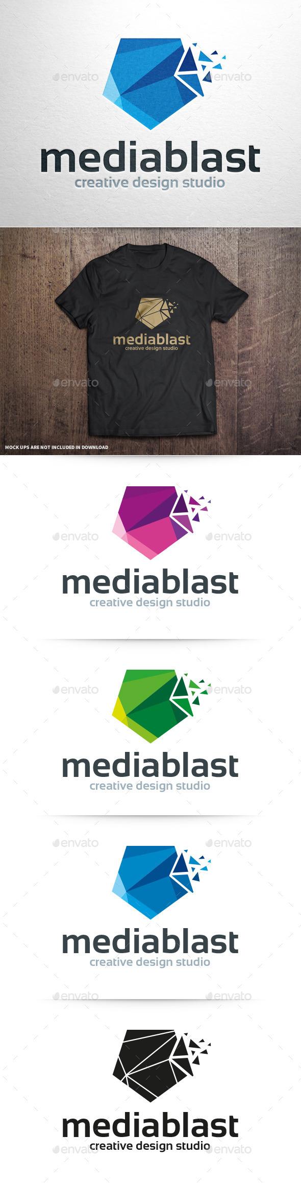 Media Blast Logo Template