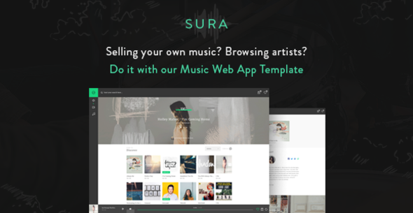 Sura - Music Web App HTML Template