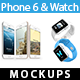 iPhone 6s & Watch Mock-ups - GraphicRiver Item for Sale