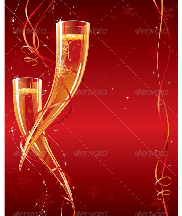 Happy New Year. Christmas greeting card