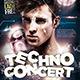 Techno Concert Dj Party - GraphicRiver Item for Sale