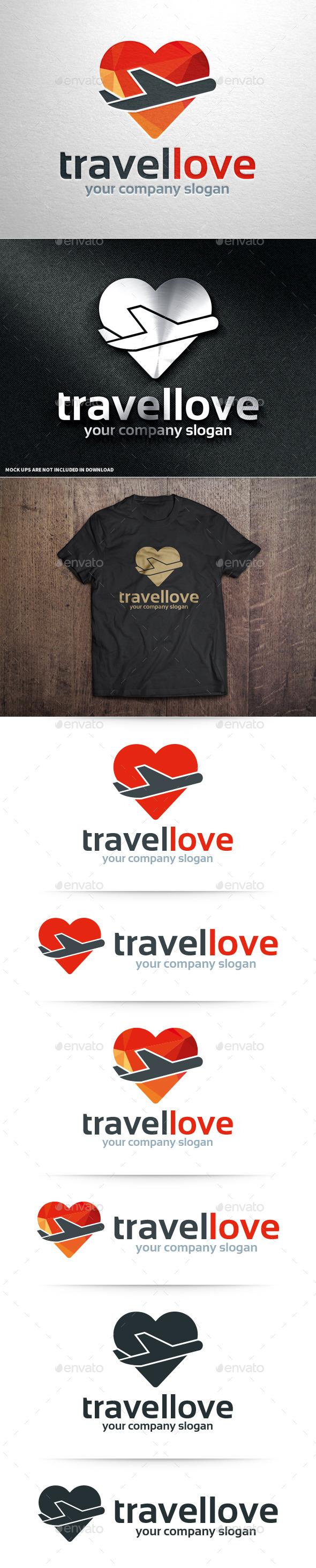 Travel Love Logo Template