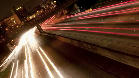 Traffic On The Busy 101 Freeway