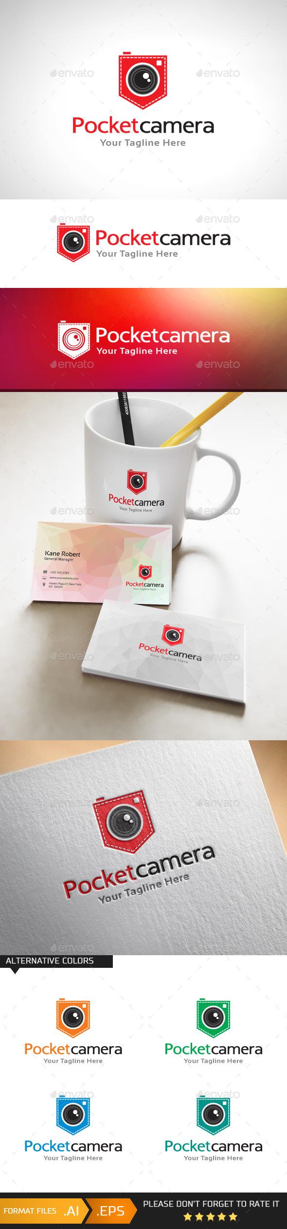 Pocket Camera Logo Template
