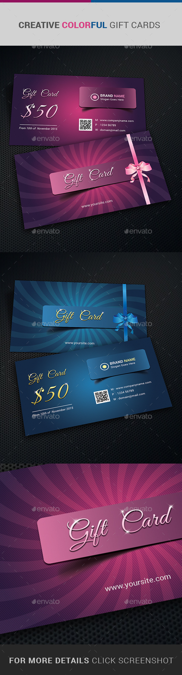 Gift Card Graphics Designs Templates From Graphicriver
